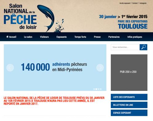 Salon de la p che a toulouse annulation pechesempe for Salon a toulouse